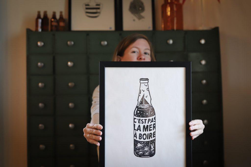 Linogravure c'est pas la mer à boire