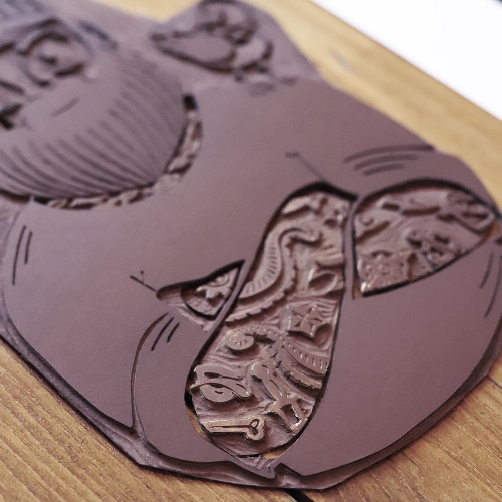 plaque linoleum
